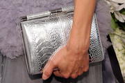 Lucy Liu Metallic Clutch