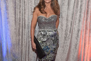 Paula Abdul Strapless Dress