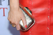 Emily Blunt Metallic Clutch