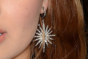 Debby Ryan Dangling Diamond Earrings