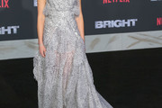 Lucy Fry Strapless Dress