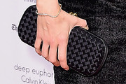 Neve Campbell Woven Clutch