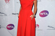 Ana Ivanovic Off-the-Shoulder Dress