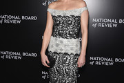 Carla Gugino Off-the-Shoulder Dress