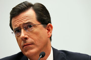 Stephen Colbert Side Parted Straight Cut