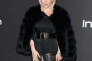 Hilary Duff Fur Coat