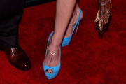 Rachel Winter Peep Toe Pumps
