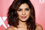 Priyanka Chopra Medium Wavy Cut with Bangs