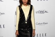 Ashley Madekwe Leather Dress