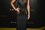 AnnaLynne McCord Fringed Dress