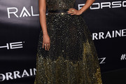 La La Anthony Strapless Dress
