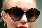 Kate Bosworth Round Sunglasses