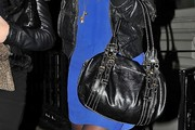 Chelsy Davy Leather Shoulder Bag