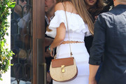 Sofia Vergara Straw Shoulder Bag