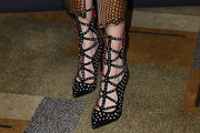 Darby Stanchfield Studded Heels