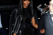 Naomi Campbell Leather Jacket