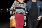 Michelle Keegan Leather Shoulder Bag