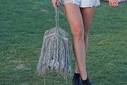 Eiza Gonzalez Suede Shoulder Bag