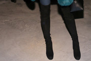Jessica Hart Over the Knee Boots