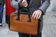 David Walliams Leather Briefcase