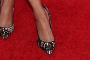 Meta Golding Pumps