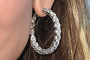 Jennifer Lopez Diamond Hoops