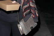 Hilary Duff Metallic Shoulder Bag