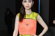 Lily Collins Tube Top