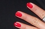 Nicole Sherzinger Red Nail Polish
