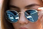 Lucy Hale Round Sunglasses
