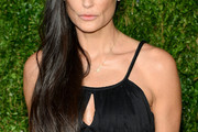 Demi Moore Long Side Part