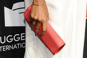 Shala Monroque Leather Clutch