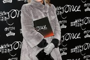 Elaine Paige Fur Coat