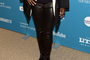 Viola Davis Leather Pants