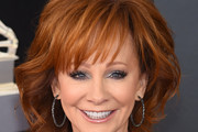 Reba McEntire Medium Wavy Cut with Bangs