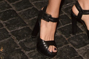 Salma Hayek Strappy Sandals