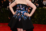 Lena Dunham Strapless Dress
