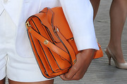 Naomie Harris Leather Clutch