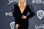 Bebe Rexha Embroidered Dress