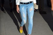 Olivia Palermo Ripped Jeans