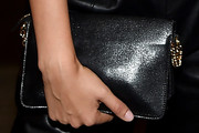 Lily Aldridge Leather Clutch