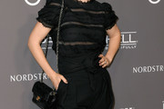 Zooey Deschanel Quilted Leather Bag