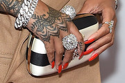 Rihanna Printed Clutch