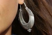 Irina Shayk Sterling Hoops