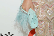 Hannah Jeter Feathered Clutch