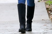 Jessica Alba Knee High Boots