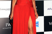Padma Lakshmi Cutout Dress