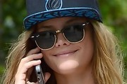 Nina Agdal Oval Sunglasses