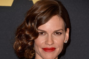 Hilary Swank Side Swept Curls
