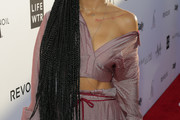 Jhene Aiko Long Braided Hairstyle